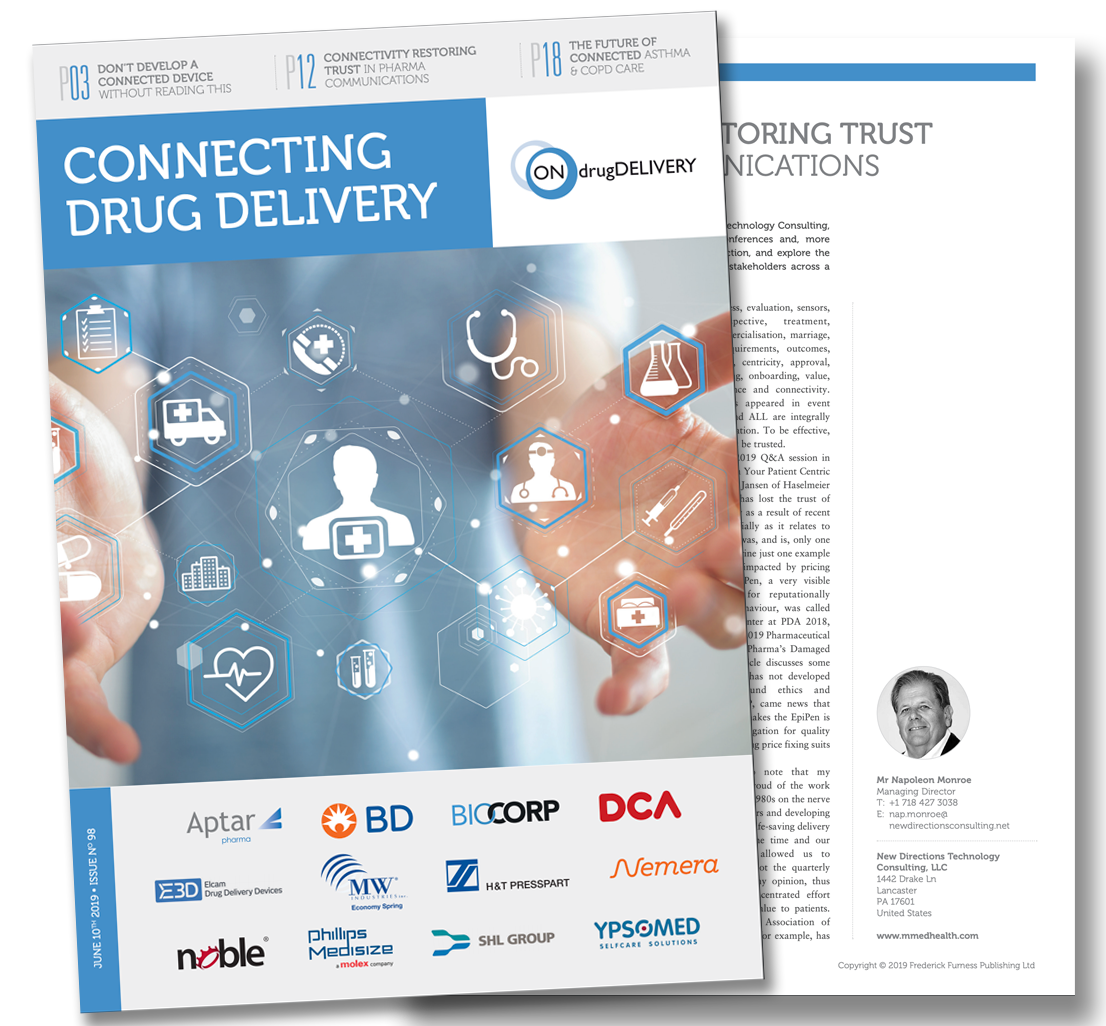 ONdrugDelivery Expert View Article: Beyond Manufacturing