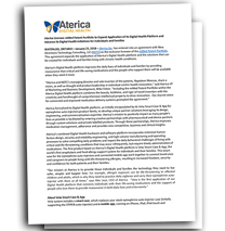 Press Release, Licensing with Aterica